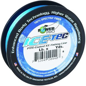 POWER PRO ICE-TEC FISHING LINE BLUE 10 LB TEST 50 YD