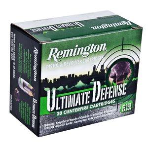 REMINGTON ULTIMATE DEFENSE 9MM LUGER 124GR BJHP