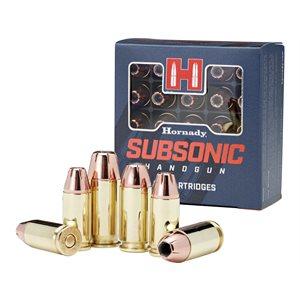 HORNADY SUBSONIC HANDGUN 9MM LUGER 147 GR XTP