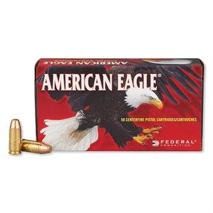 AMERICAN EAGLE 9MM LUGER 147 GR FULL METAL JACKET