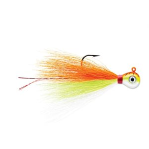 VMC BUCKTAIL JIGS 3 / 8 ORANGE FIRE UV
