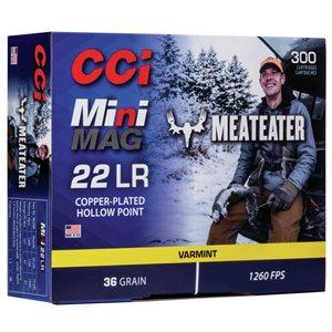 CCI MINI MAG 22 LR MEATEATER 300 CART. VARMINT 36GR. 1260FPS