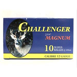"CHALLENGER MUNITION SLUG 12 GA 2 3 / 4 "" MAGNUM"
