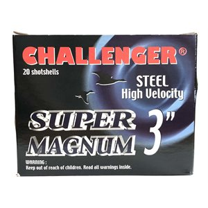 "CHALLENGER MUNITION STEEL SUPER MAGNUM 12GA 3"" 1 1 / 4 OZ #2"