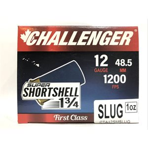 CHALLENGER 12GA 1200FPS SLUG SHORTSHELL 1 3 / 4 1OZ