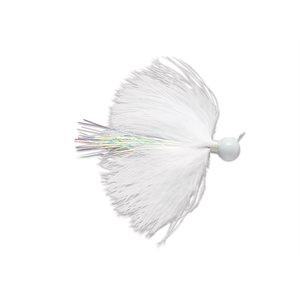 PRO SERIES MARABOU JIGS HAMECON POWER CAP VWC WHITE 1 / 4