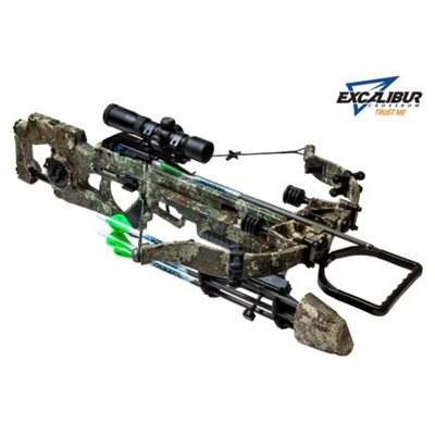 EXCALIBUR 400 TRUETIMBER STRATA WITH TAC 100 SCOPE AND CASE