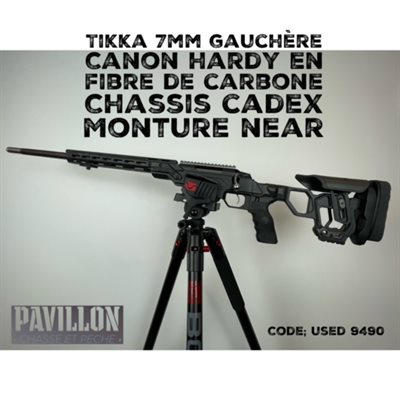 COMBO TIKKA T3X GAUCHÈRE CADEX DEFENCE CHASSIS SYSTEM